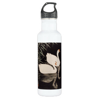 Charca blanca del cisne del ukiyo-e japonés
