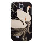 Charca blanca del cisne del ukiyo-e japonés clásic