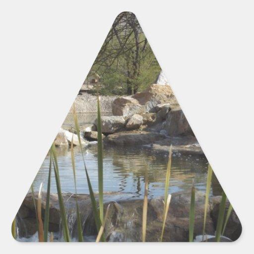 Charca bonita calcomanías trianguladas