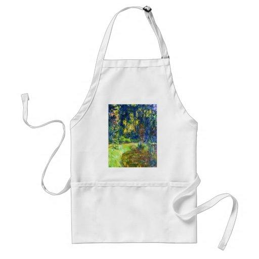 Charca Claude Monet del lirio de agua fresco, viej Delantal
