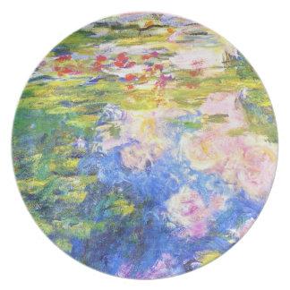 Charca Claude Monet del lirio de agua Platos