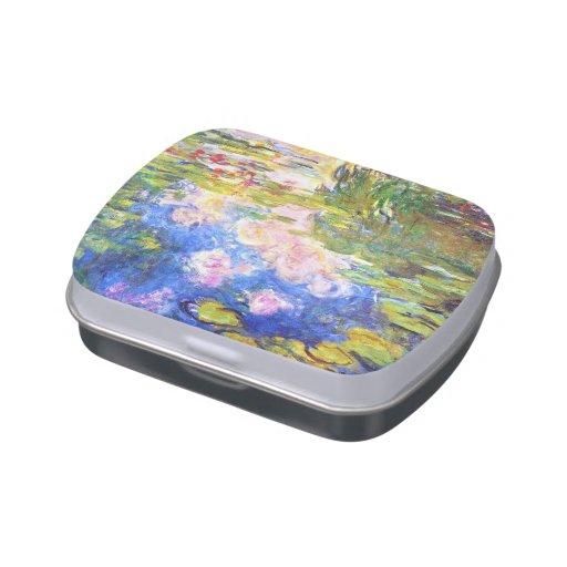 Charca Claude Monet del lirio de agua que pinta ar Frascos De Dulces