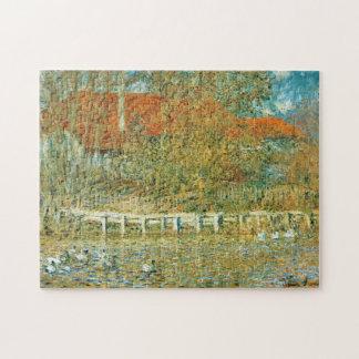 Charca con los patos en bella arte de Monet del Puzzle
