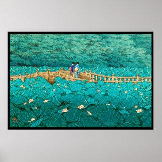 Charca de Benten en el paisaje del japonés de Shib Impresiones