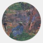 Charca de Gauguin Paul (la mejor calidad) Etiquetas Redondas