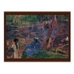 Charca de Gauguin Paul (la mejor calidad) Postales