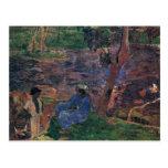 Charca de Gauguin Paul (la mejor calidad) Tarjetas Postales