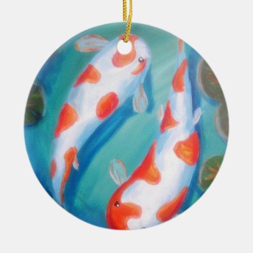 Charca de Koi Ornamento De Navidad