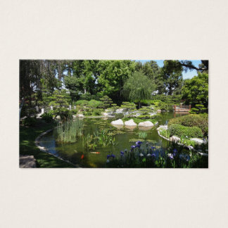 Charca de Koi del jardín y tarjeta de visita