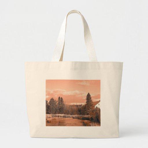 Charca de la granja bolsas de mano