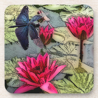Charca de la libélula posavasos