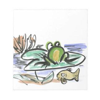 Charca de la rana - por encima y por debajo de bloc