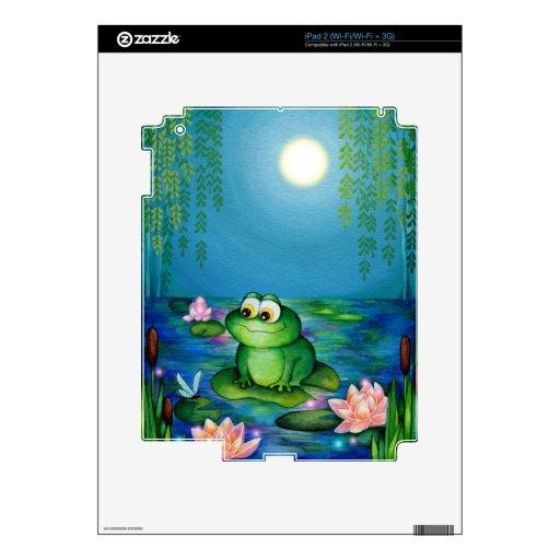 Charca de la rana y del lirio calcomanías para iPad 2