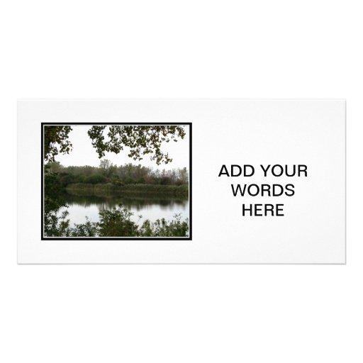 Charca de la reserva natural de Tifft Tarjeta Con Foto Personalizada