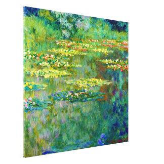 Charca de los lirios de agua de Claude Monet Impresión En Lienzo