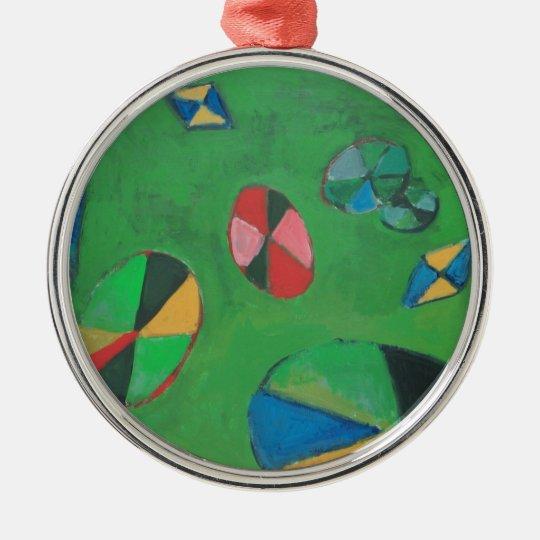 Charca de Lotus geométrica (expresionismo Adorno Navideño Redondo De Metal