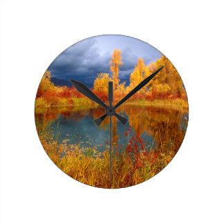 Charca de Peggys del lago Reloj De Pared