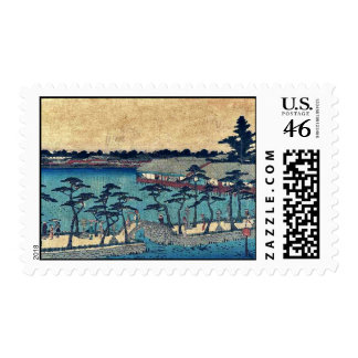 Charca de Shinobazu por Andō Hiroshige Ukiyo-e Franqueo