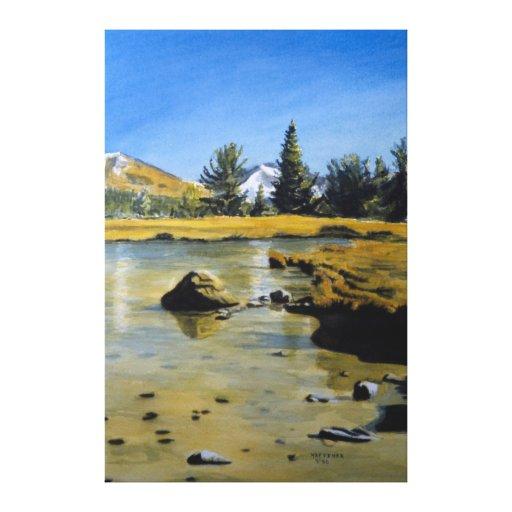 Charca de Yosemite Lona Estirada Galerias