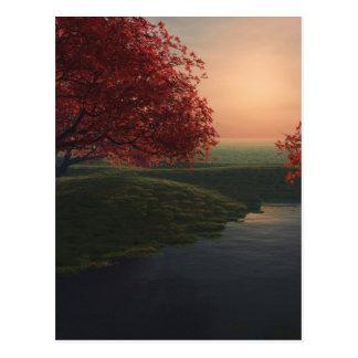 charca del arce. paisaje de .beautiful tarjeta postal