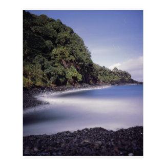 Charca del azul de Hana Maui Hawaii Fotografia