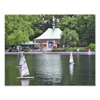 Charca del barco del Central Park Fotografías