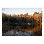 Charca del castor de New Hampshire en otoño Felicitación