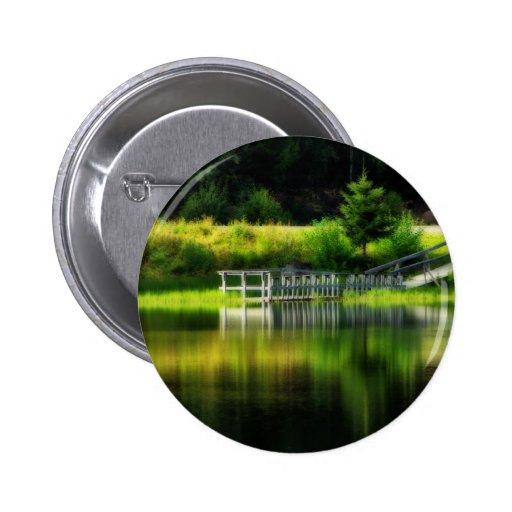 Charca del espejo pin redondo 5 cm