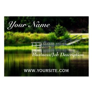 Charca del espejo tarjeta de visita