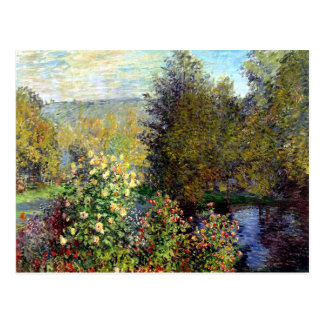Charca del jardín por la postal de Monet