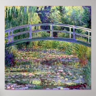 Charca del lirio de agua de Monet-The Póster
