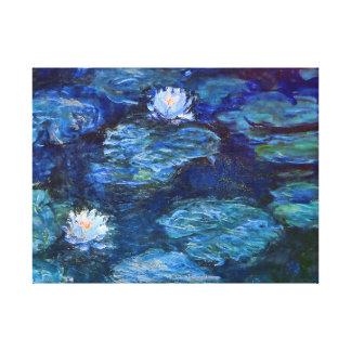 Charca del lirio de agua en azul por la bella arte