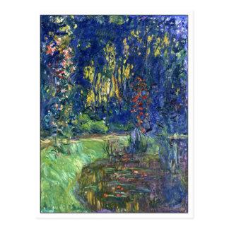 Charca del lirio de agua en Giverny de Monet Postal
