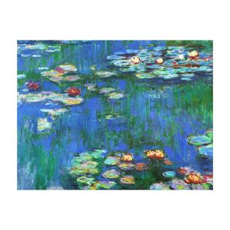 Charca del lirio de agua en la bella arte azul de