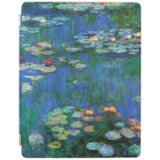Charca del lirio de agua en la bella arte azul de cubierta de iPad