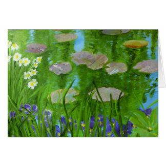 Charca del lirio de agua: Giverny, Francia Tarjeta Pequeña