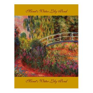 Charca del lirio del agua de Monet Postal