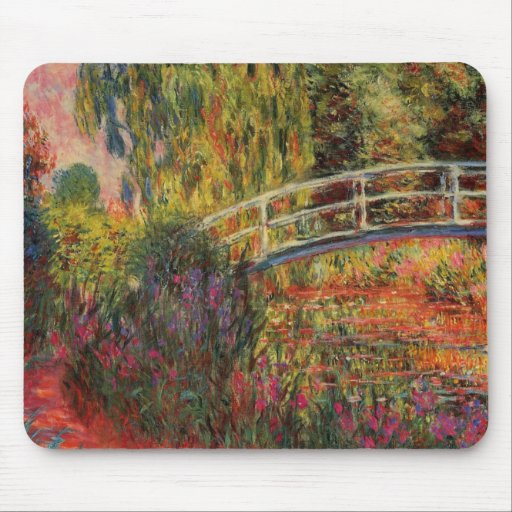 Charca del lirio del agua de Monet Tapete De Raton