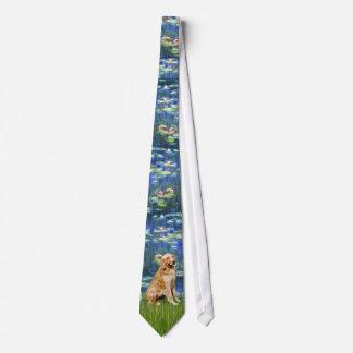 Charca del lirio (en azul) - golden retriever corbatas personalizadas