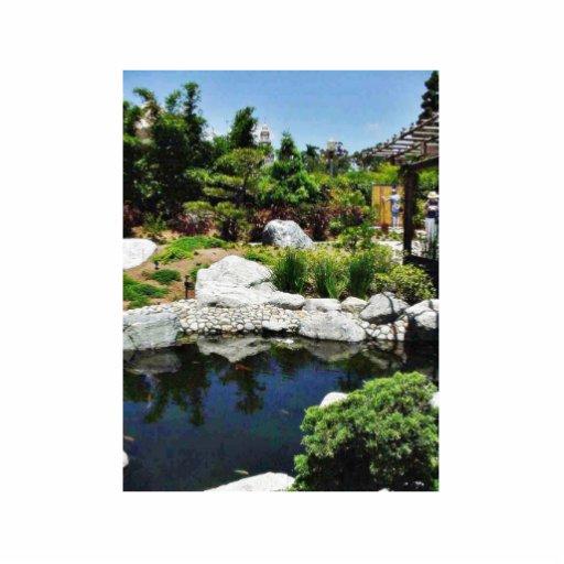Charca del parque del balboa del jardín de la amis escultura fotográfica