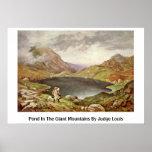 Charca en las montañas gigantes del juez Louis Posters