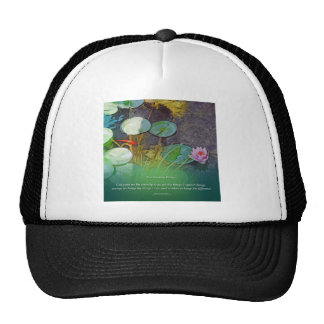 Charca Lotus de Koi del rezo de la serenidad Gorras