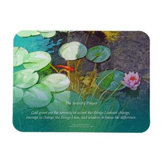 Charca Lotus de Koi del rezo de la serenidad Iman Flexible