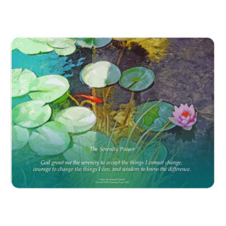 """Charca Lotus de Koi del rezo de la serenidad Invitación 6.5"""" X 8.75"""""""