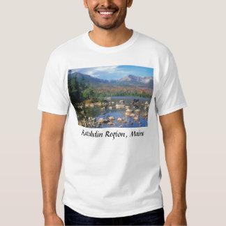 Charca y alces, región de Katahdin, M de la Playeras