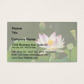 Charcas de las flores de Lotus Tarjeta De Negocios