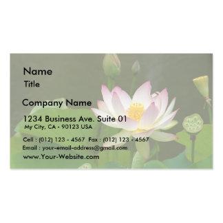 Charcas de las flores de Lotus Tarjetas De Visita