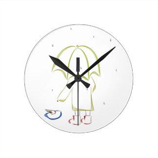 Charco del día lluvioso reloj