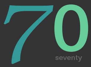 Charcoal And Blue Custom 70th Birthday Invitation
