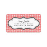 Charcoal and Coral Geometric Address Labels